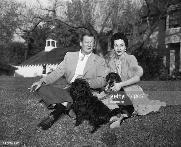 Actor John Wayne and Wife Pilar Wayne