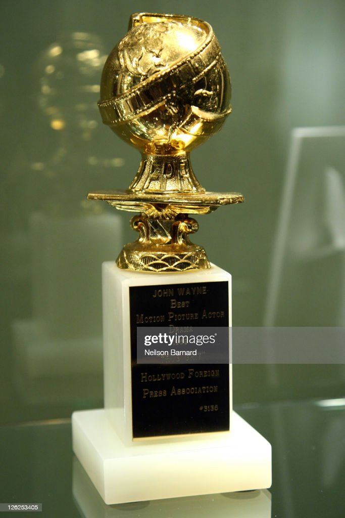 Actor John Wayne's Golden Globe award for 'True Grit' on display at the John Wayne Auction Preview at the Ukrainian Institute of America at the Fletcher Sinclair Mansion on September 23, 2011 in New York City.
