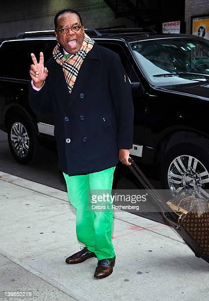 Actor John Witherspoon arrives at the Ed Sullivan Theater for a taping of the David Letterman Show on February 22 2012 in New York City