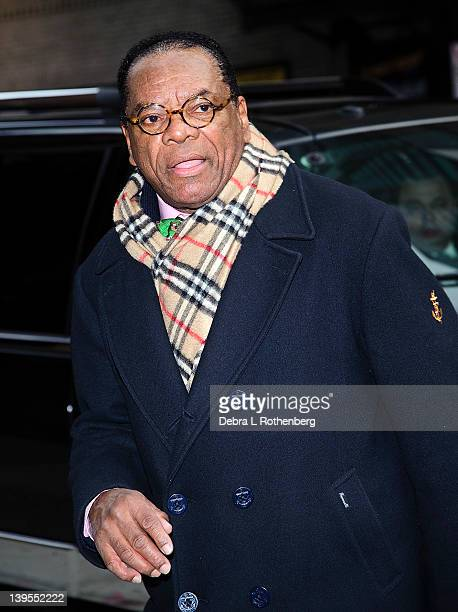 Actor John Witherspoon arrives at the Ed Sullivan Theater for a taping of the David Letterman Show on February 22, 2012 in New York City.