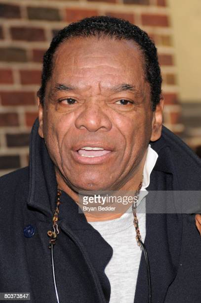 """Actor John Witherspoon arrives at the Ed Sullivan Theater for a taping of """"The Late Show with David Letterman"""" March 25, 2008 in New York City."""