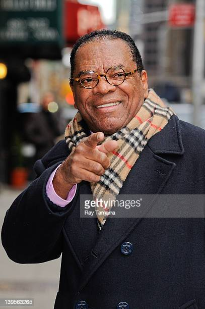 Actor John Witherspoon enters the Late Show With David Letterman taping at the Ed Sullivan Theater on February 22 2012 in New York City