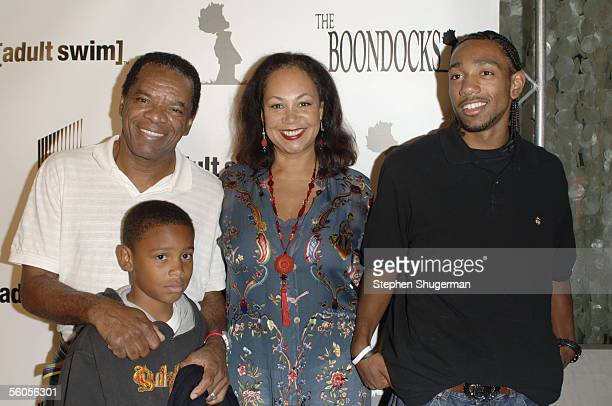Actor John Witherspoon wife Angelo son John David and son Alexander attend the Los Angeles Launch Party For The TV Series The Boondocks at Mood on...