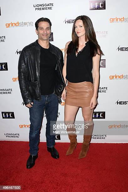 Actor Johnathon Schaech and actress Lydia Hull arrive at the screening of Lionsgate's 'Heist' at Sundance Cinemas on November 9 2015 in West...