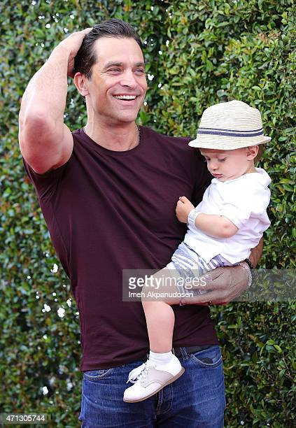 Actor Johnathon Schaech and his son Camden Schaech attend the 12th Annual John Varvatos Stuart House Benefit at John Varvatos on April 26 2015 in Los...