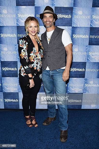 Actor Johnathon Schaech and Julie Solomon arrive at the People StyleWatch 4th Annual Denim Awards Issue party at The Line on September 18, 2014 in...