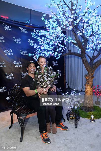 Actor Johnathon Schaech and Julie Solomon attend Kari Feinstein's Pre-Golden Globes Style Lounge at the Andaz West Hollywood on January 9, 2015 in...