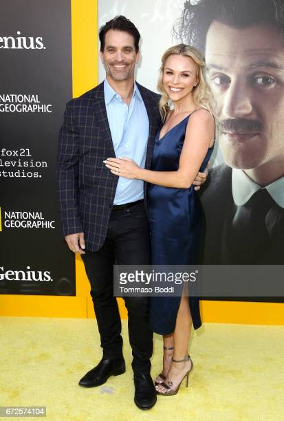 Actor Johnathon Schaech and Julie Solomon attend the Los Angeles Premiere Screening of National Geographics 'Genius' the Fox Theater on April 24 2017...