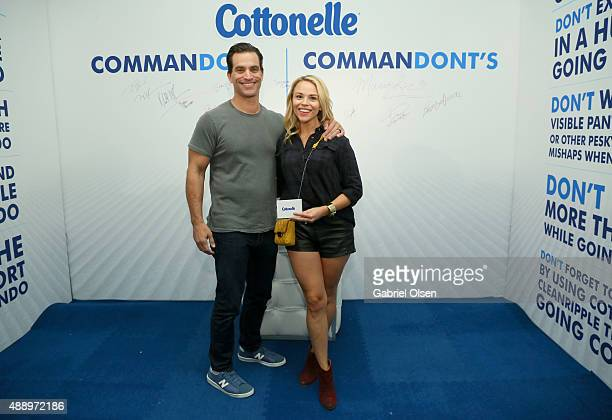 """Actor Johnathon Schaech and Julie Solomon pose with Cottonelle at EXTRA's """"WEEKEND OF 