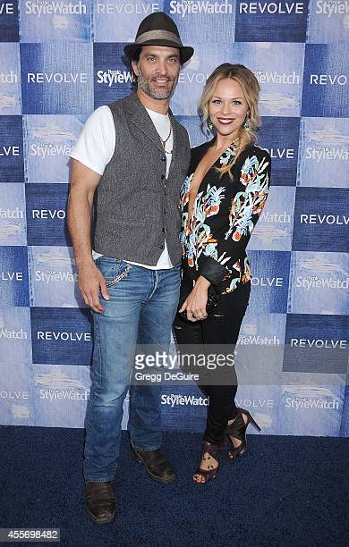 Actor Johnathon Schaech and wife Julie Solomon arrive at the People StyleWatch 4th Annual Denim Awards Issue at The Line on September 18, 2014 in Los...
