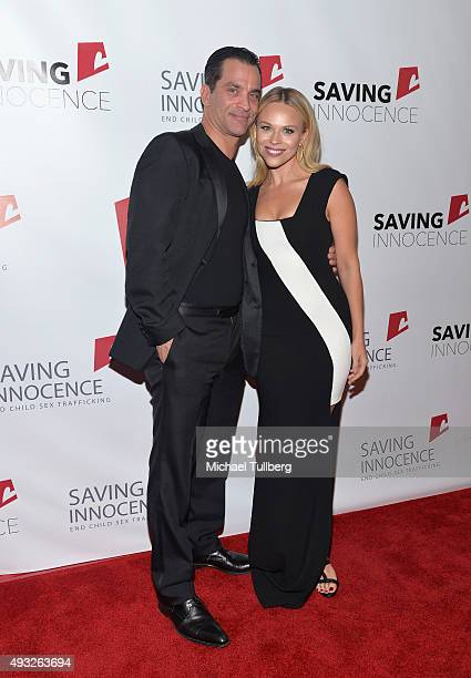 """Actor Johnathon Schaech and writer Julie Solomon, attend the 4th Annual """"Saving Innocence"""" gala to combat child sex trafficking at SLS Hotel on..."""