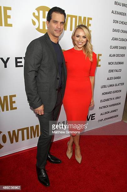 Actor Johnathon Schaech and writer Julie Solomon attend the Showtime 2015 Emmy Eve party at Sunset Tower Hotel on September 19, 2015 in West...