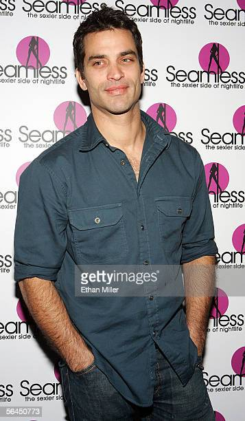Actor Johnathon Schaech arrives at the grand opening of the Seamless Adult Ultra Lounge early December 18 2005 in Las Vegas Nevada
