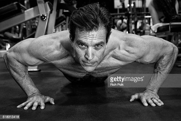 Actor Johnathon Schaech during the training session at Powerhouse Gym on March 30 2016 in Burbank California