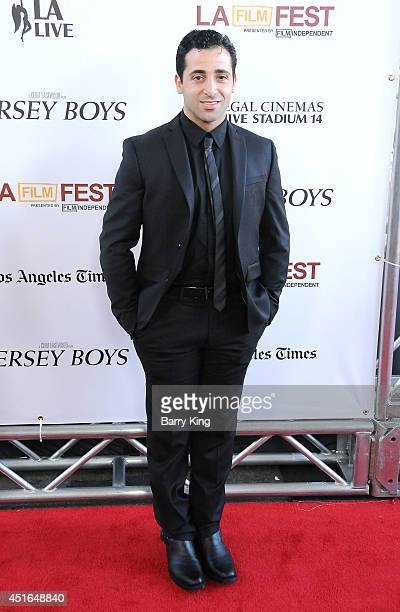 Actor Johnny Cannizzaro attends the 2014 Los Angeles Film Festival closing night premiere of 'Jersey Boys' at Premiere House on June 19 2014 in Los...