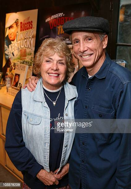 Actor Johnny Crawford and wife Charlotte Crawford pose during the Grand Opening and ribbon cutting ceremony for the new Will Rogers State Historic...