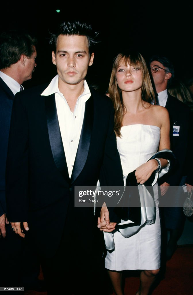 Actor Johnny Depp and girlfriend model Kate Moss attend the