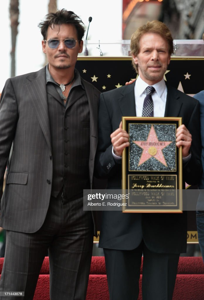 Actor Johnny Depp and producer Jerry Bruckheimer attend Legendary Producer Jerry Bruckheimer Hollywood Walk of Fame Star Ceremony on the Hollywood Walk of Fame on June 24, 2012 in Hollywood, California.