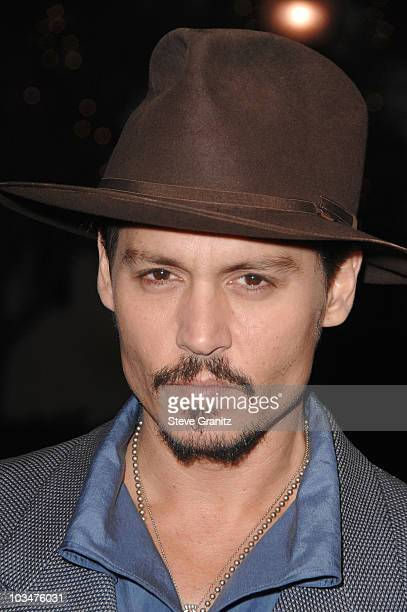 """Actor Johnny Depp arrives at a special screening of DreamWorks Pictures' """"Sweeney Todd"""" at the Paramount Theater on December 5, 2007 in Los Angeles,..."""