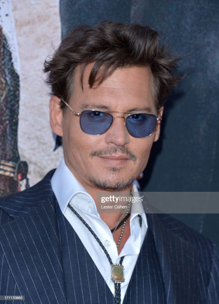 Actor Johnny Depp arrives at Disney's 'The Lone Ranger' World Premiere at Disney's California Adventure on June 22, 2013 in Anaheim, California.