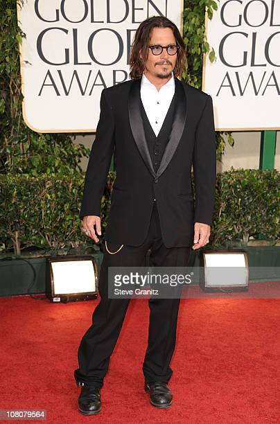 Actor Johnny Depp arrives at the 68th Annual Golden Globe Awards held at The Beverly Hilton hotel on January 16 2011 in Beverly Hills California