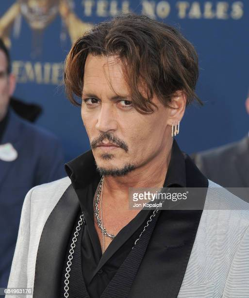 Actor Johnny Depp arrives at the Los Angeles Premiere Pirates Of The Caribbean Dead Men Tell No Tales at Dolby Theatre on May 18 2017 in Hollywood...