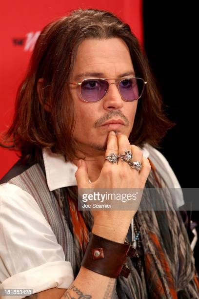 Actor Johnny Depp at Variety Studio presented by Moroccanoil on Day 1 at Holt Renfrew, Toronto during the 2012 Toronto International Film Festival on...