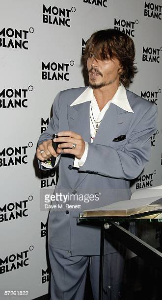 Actor Johnny Depp attends 100th Anniversary gala celebration in a fantastic recreation on the summit of Mont Blanc with a dazling runway launching...