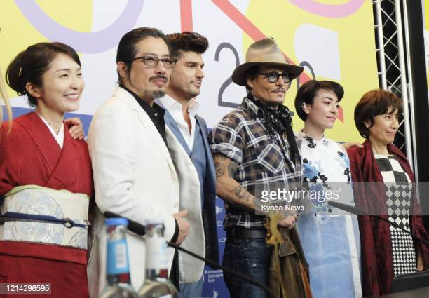 Actor Johnny Depp attends a press conference for the movie Minamata at the Berlin International Film Festival on Feb 21 2020