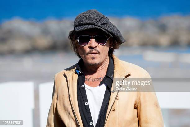 Actor Johnny Depp attends 'Crock of Gold A Few Rounds With Shane Macgowan' photocall during the 68th San Sebastian International Film Festival at the...