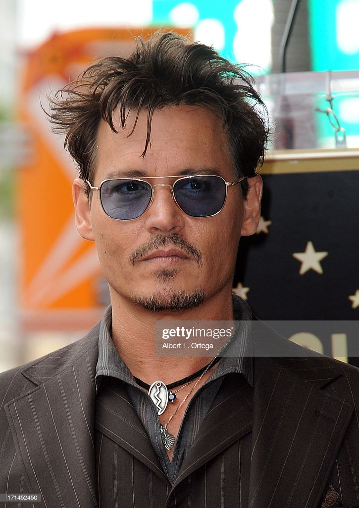 Actor Johnny Depp attends Jerry Bruckheimer's Hollywood Walk of Fame ceremony on June 24, 2013 in Hollywood, California.