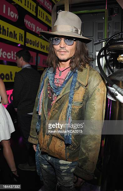 Actor Johnny Depp attends Nickelodeon's 26th Annual Kids' Choice Awards at USC Galen Center on March 23 2013 in Los Angeles California