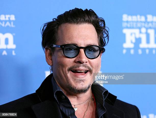 Actor Johnny Depp attends the 31st Santa Barbara International Film Festival on February 4 2016 in Santa Barbara California