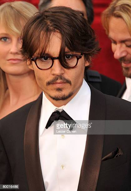 Actor Johnny Depp attends the 80th Annual Academy Awards at the Kodak Theatre on February 24 2008 in Los Angeles California