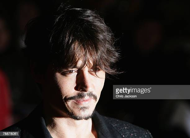 Actor Johnny Depp attends the European Premiere of 'Sweeney Todd' at the Odeon Leicester Square on January 10 2008 in London England
