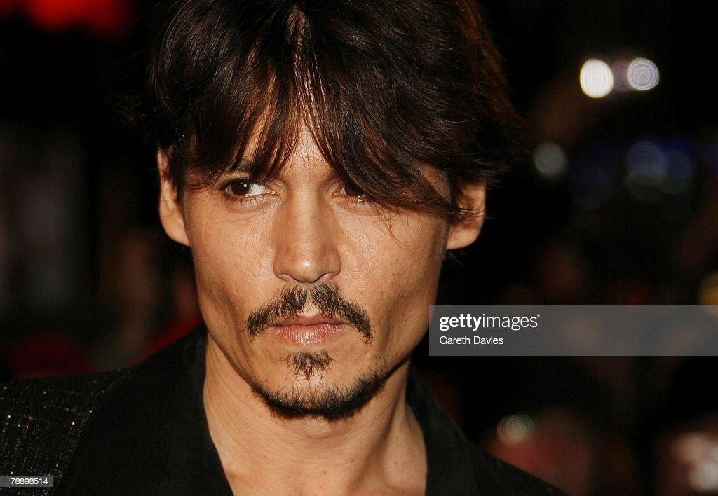 Actor Johnny Depp attends the European Premiere of 'Sweeney Todd' at the Odeon Leicester Square on January 10, 2008 in London, England.
