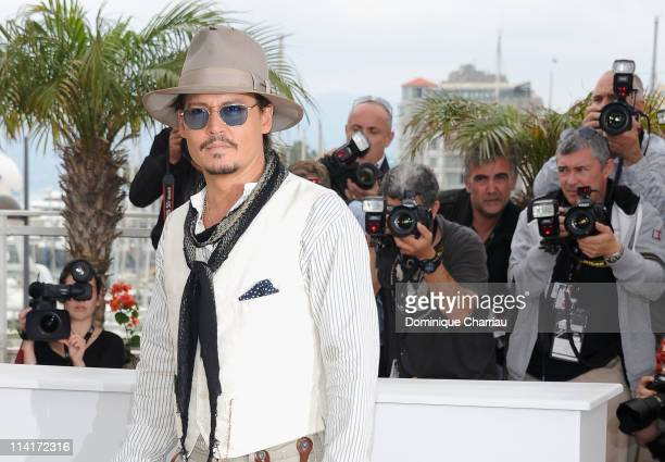 Actor Johnny Depp attends the 'Pirates of the Caribbean On Stranger Tides' Photocall during the 64th Annual Cannes Film Festival at Palais des...