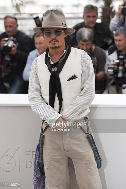 US actor Johnny Depp attends the 'Pirates of the Caribbean On Stranger Tides' Photocall during the 64th Annual Cannes Film Festival at Palais des...