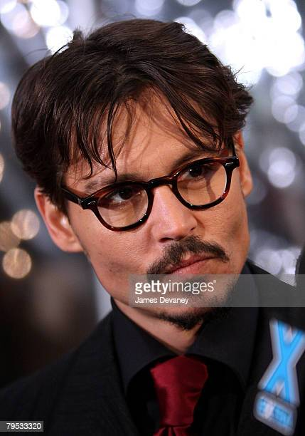 Actor Johnny Depp attends the premiere of 'Sweeney Todd The Demon Barber of Fleet Street' at the Ziegfeld Theater on December 3 2007 in New York City