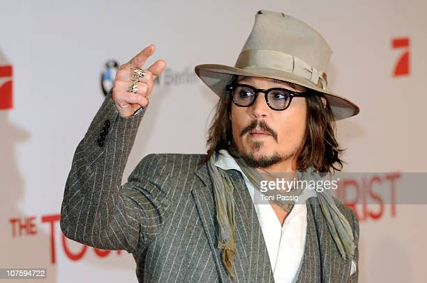 Actor Johnny Depp attends the 'The Tourist' European Premiere at CineStar on December 14, 2010 in Berlin, Germany.