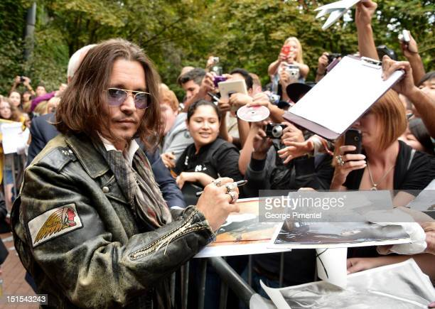 Actor Johnny Depp attends the West Of Memphis premiere during the 2012 Toronto International Film Festival at Ryerson Theatre on September 8 2012 in...