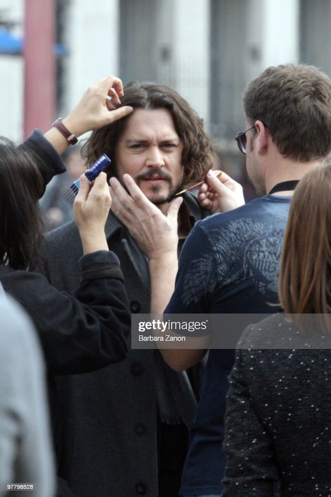 Actor Johnny Depp is seen at the Piazzale della Stazione, filming on location for 'The Tourist' on March 17, 2010 in Venice, Italy.