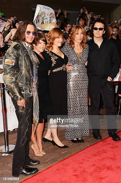 Actor Johnny Depp musician Natalie Maines of the Dixie Chicks Producer Lorri Davis Director/Producer Amy Berg and producer/documentary subject Damien...