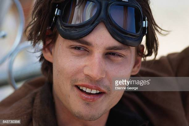 Actor Johnny Depp on the set of Arizona Dream directed by Serbian director Emir Kusturica