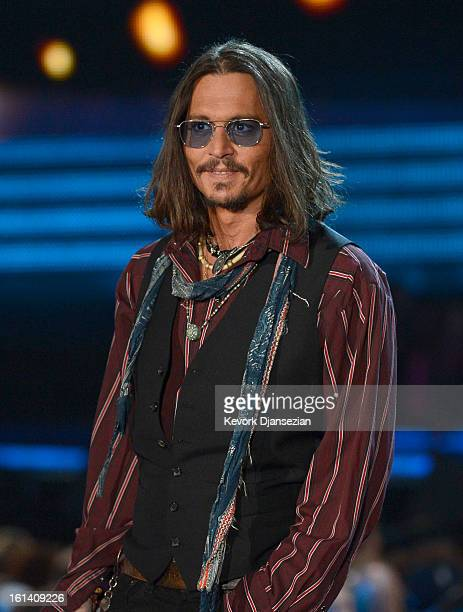 Actor Johnny Depp speaks onstage at the 55th Annual GRAMMY Awards at Staples Center on February 10 2013 in Los Angeles California