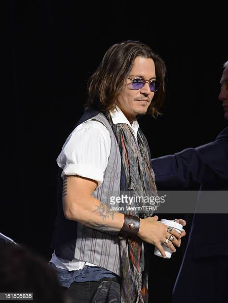 Actor Johnny Depp speaks onstage at the West of Memphis press conference during the 2012 Toronto International Film Festival at TIFF Bell Lightbox on...
