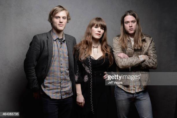 Actor Johnny Flynn and musicians Jenny Lewis and Johnathan Rice pose for a portrait during the 2014 Sundance Film Festival at the Getty Images...