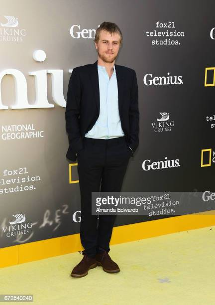 Actor Johnny Flynn arrives at the premiere of National Geographic's 'Genius' at the Fox Bruin Theater on April 24 2017 in Los Angeles California