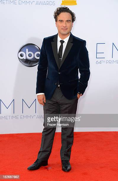 Actor Johnny Galecki arrives at the 64th Annual Primetime Emmy Awards at Nokia Theatre LA Live on September 23 2012 in Los Angeles California