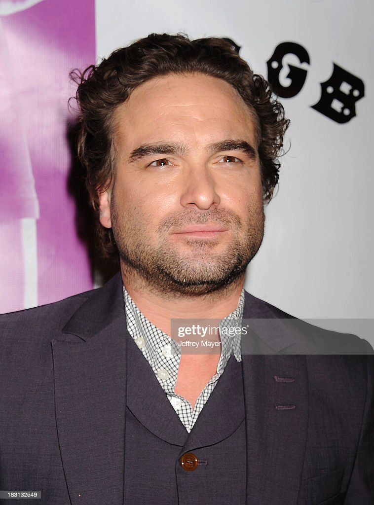 Actor Johnny Galecki arrives at the 'CBGB' Special Screening at ArcLight Cinemas on October 1, 2013 in Hollywood, California.